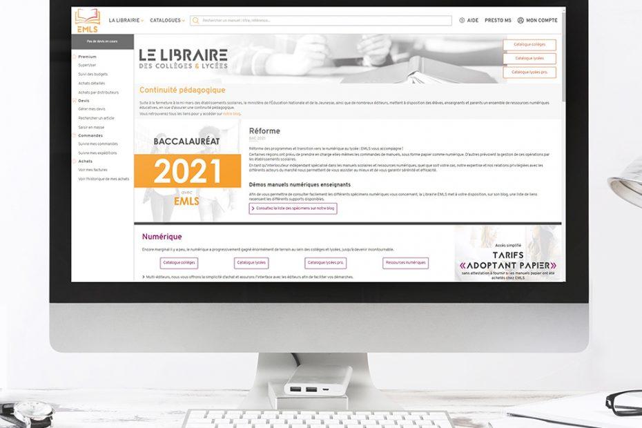 Logo, site web, blog... La librairie EMLS innove pour vous
